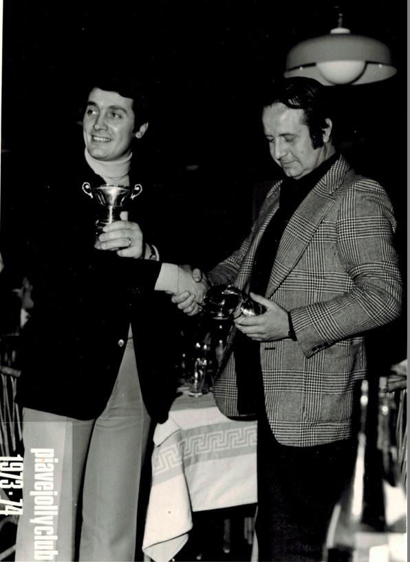 """""""Lino"""" Solighetto, 8.02.1974. Premiazione Piave Jolly Club Stagione 1973"""